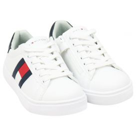 White Lace Flag Logo Trainers