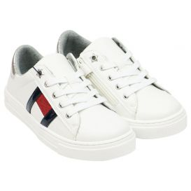 Low Top White Lace Trainers