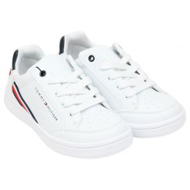 White & Navy Trainers