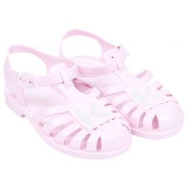 Pink Logo Jelly Sandals