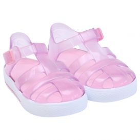 Pale Pink Tenis Jelly Sandals