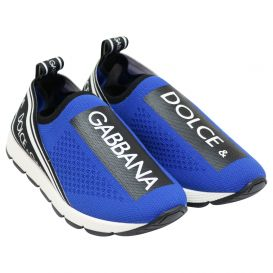 Blue Slip On Trainers