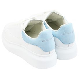 White & Blue Chunky Trainers
