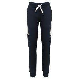 Contrast Side Panel Logo Navy Joggers