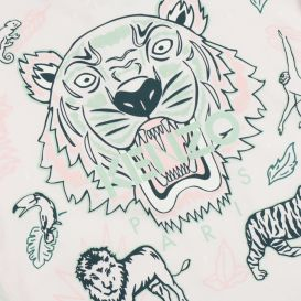 Pale Pink Graphic Tiger T Shirt