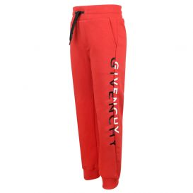 Loose Fit Split Logo Bright Red Joggers
