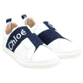 Embroidered Logo White Trainers