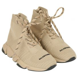 Beige Speed Lace Up Trainers