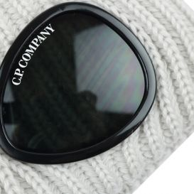 Grey Stone Knitted Goggle Hat