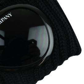 Knitted Black Goggle Hat