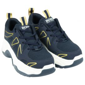 Navy & Gold Trainers