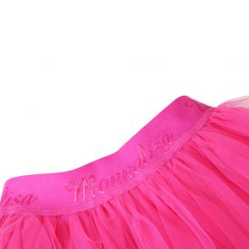Pink Layered Tulle Skirt