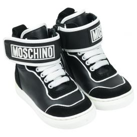 Black High Top Logo Trainers