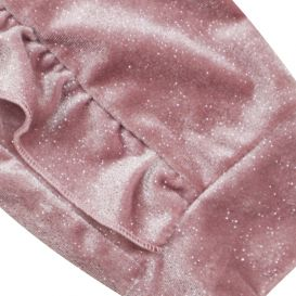 Dusty Pink Shimmer Ruffle Tracksuit
