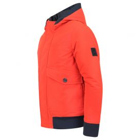 Red & Navy Hooded Parka
