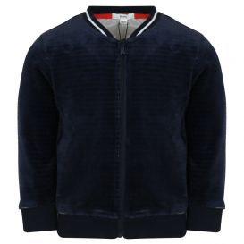 Baby Velour Navy Tracksuit