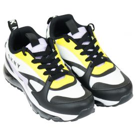 Lilac & Yellow Logo Trainers