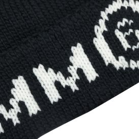 Black Knitted MM6 Hat
