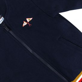 Navy & Red 3 Piece Tracksuit