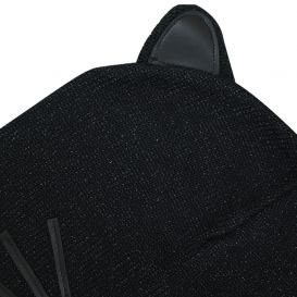 Black Knitted Choupette Hat