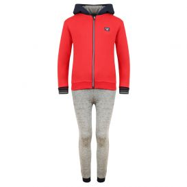 Red, Navy & Grey 3 Piece Tracksuit