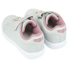 Silver Glitter Sarah Trainers