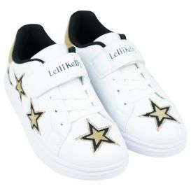 White & Gold Susan Trainers