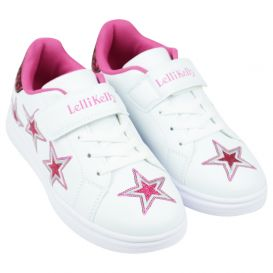 White & Pink Susan Trainers