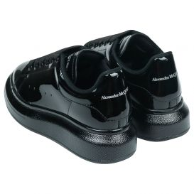 Black Patent Leather Trainers