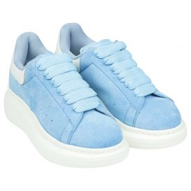 Blue Suede Leather Trainers