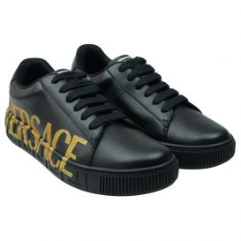 Black & Gold Logo Trainers