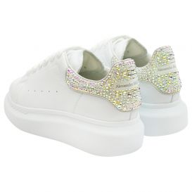 White Crystal Chunky Trainers