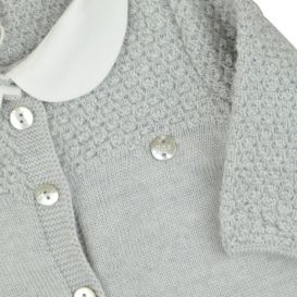 Grey Button Up Wool Romper
