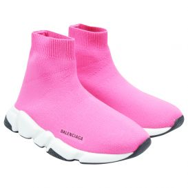 Fluorescent Pink Speed Sock Trainers