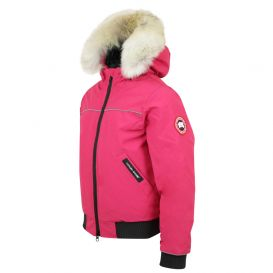 Pink Grizzly Bomber Jacket