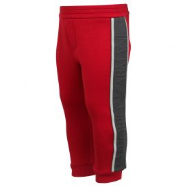 Red Embossed Logo Joggers