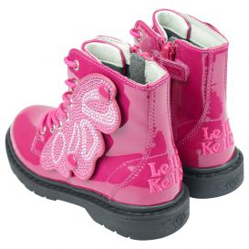 Pink Patent Ali Di Fata Butterfly Boots