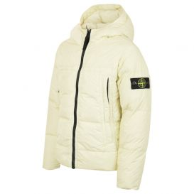 Sage Yellow Padded Hooded Coat