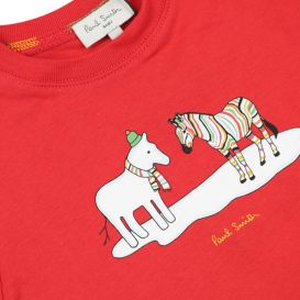 Red Cotton T Shirt
