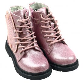 Pink Glitter Fairy Wings Boots