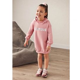 Pink Hooded Nature Dress
