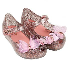Butterfly Glitter Shoes Multi Coloured
