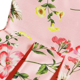 Multicoloured Floral Dress Pink