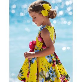 Multicoloured Florals Dress Yellow