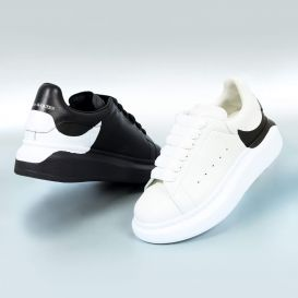 Oversized  Drop Logo Trainers White & Black