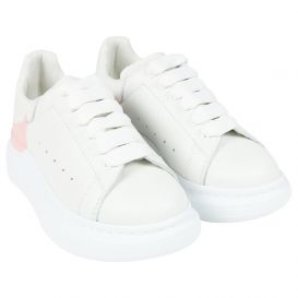Oversized Drop Logo Trainers White & Pink