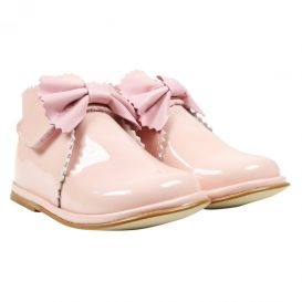 Bow Boots Pink Patent