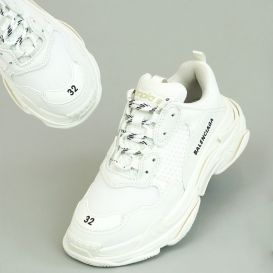 White Triple S Trainers