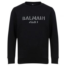 Logo Cotton Sweatshirt Black