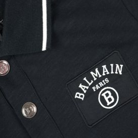 Short Sleeve Logo Polo Shirt Black